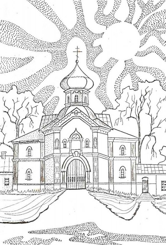Раскраски храма для детей - 10